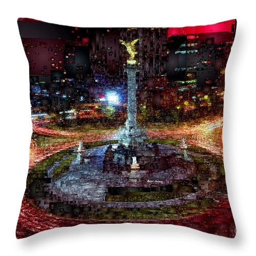 Throw Pillow - Mexico City D.f At Night