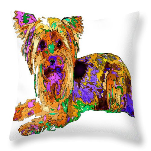 Throw Pillow - Minnie We Miss You. Pet Series