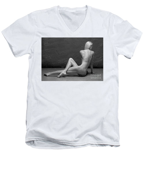 Men's V-Neck T-Shirt - Morning Stretch 2
