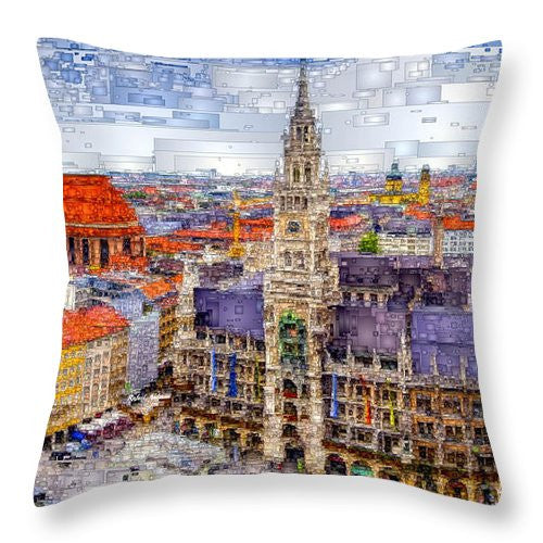 Throw Pillow - Munich Cityscape