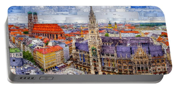 Portable Battery Charger - Munich Cityscape