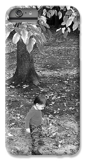 Phone Case - My First Walk In The Woods - Black And White