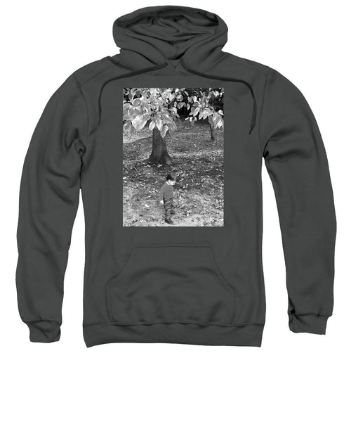 Sweatshirt - My First Walk In The Woods - Black And White