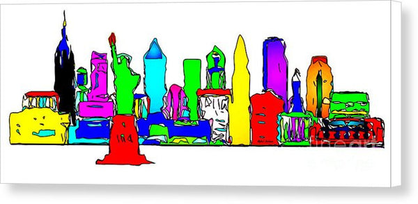 Canvas Print - New York City - Pop Art
