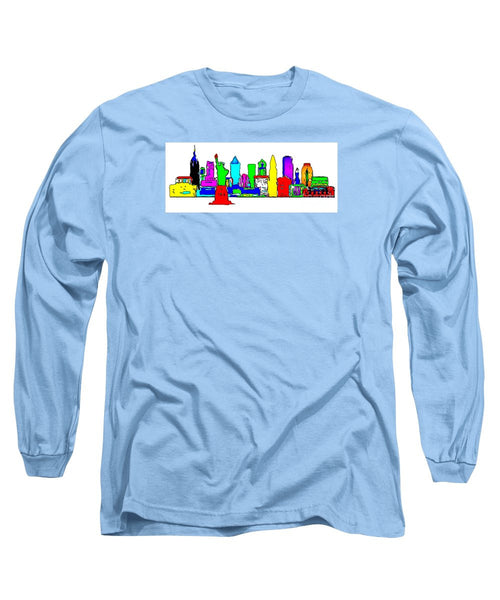 Long Sleeve T-Shirt - New York City - Pop Art