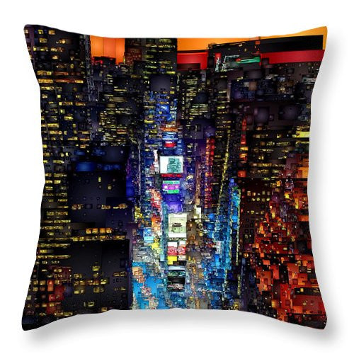 Throw Pillow - New York City - Times Square