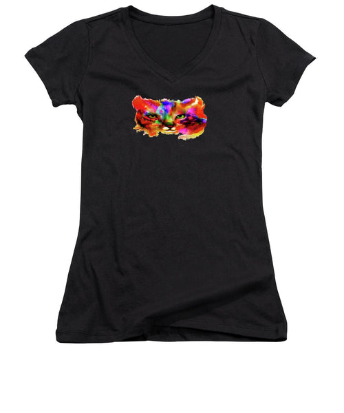 Women's V-Neck T-Shirt (Junior Cut) - No More Mr. Nice Guy
