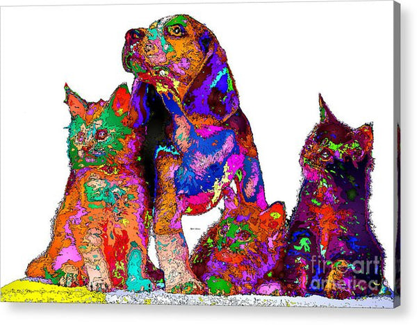 Acrylic Print - One Big Happy Family. Pet Series