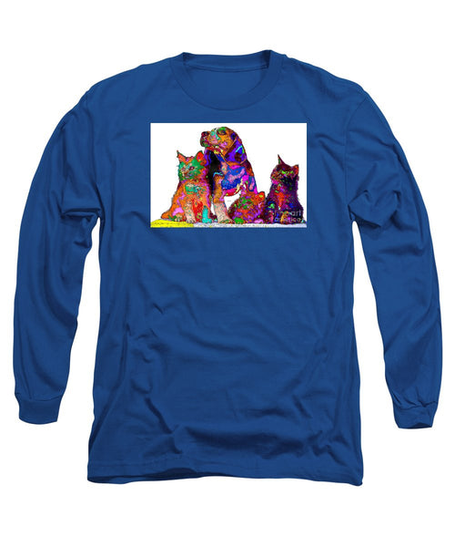 Long Sleeve T-Shirt - One Big Happy Family. Pet Series