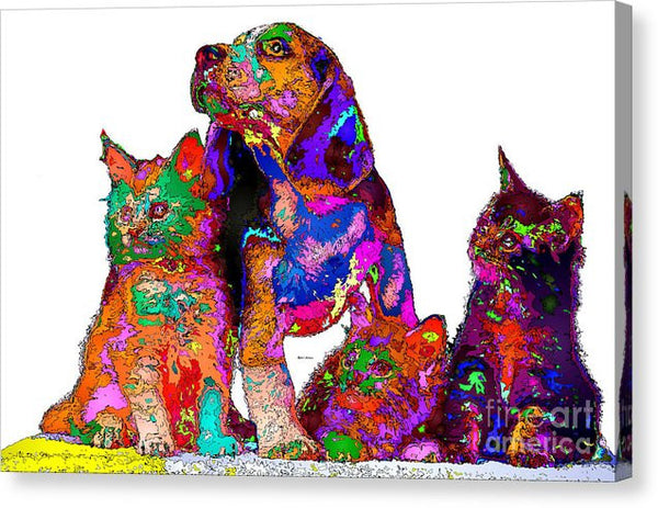 Canvas Print - One Big Happy Family. Pet Series