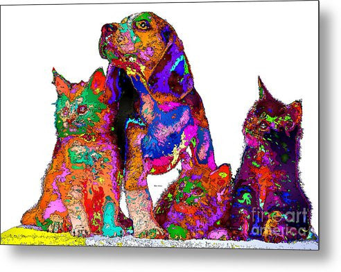 Metal Print - One Big Happy Family. Pet Series