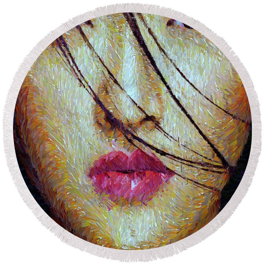 Round Beach Towel - Oriental Expression 0701