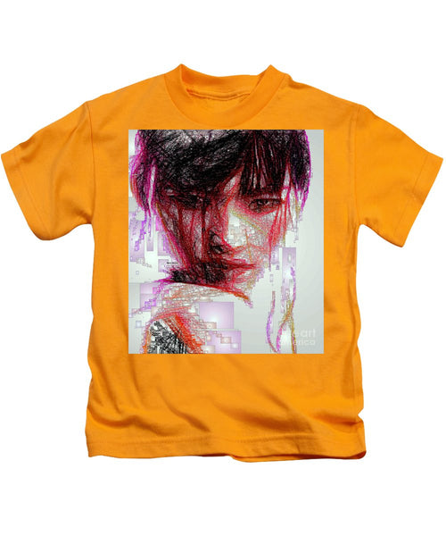 Kids T-Shirt - Oriental Portrait