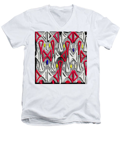 Painted Abstraction - Men's V-Neck T-Shirt