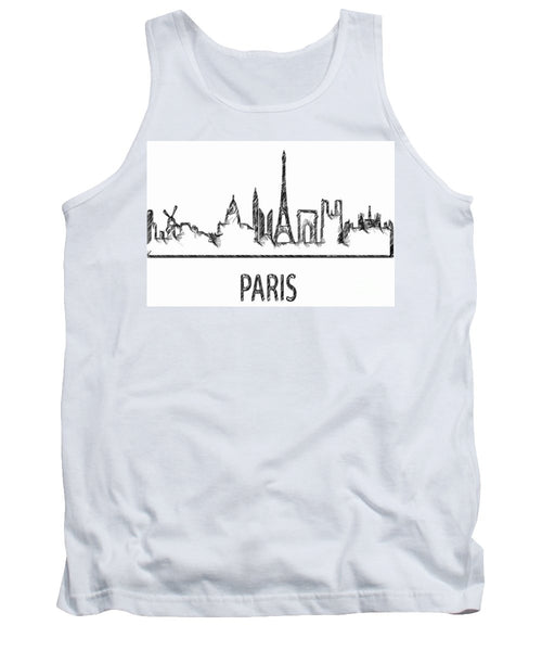 Tank Top - Paris Silouhette Sketch