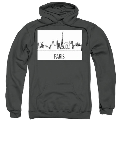 Sweatshirt - Paris Silouhette Sketch