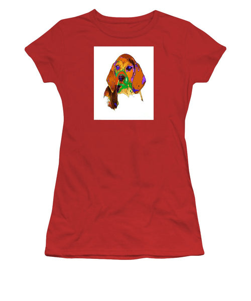 Women's T-Shirt (Junior Cut) - Pookie. Pet Series
