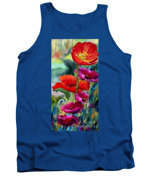 Tank Top - Poppies In Watercolor