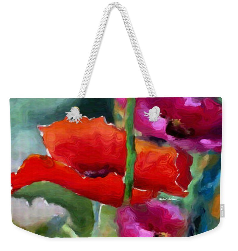 Weekender Tote Bag - Poppies In Watercolor