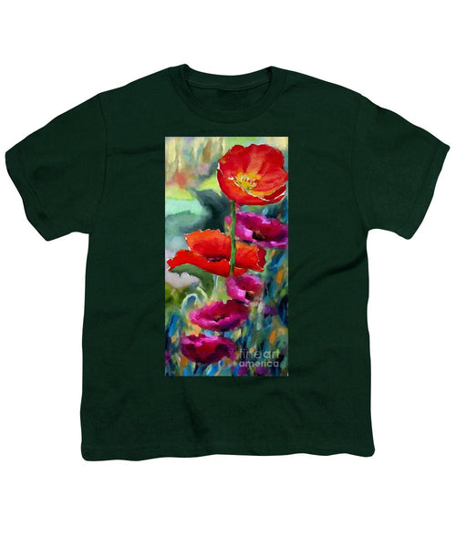 Youth T-Shirt - Poppies In Watercolor