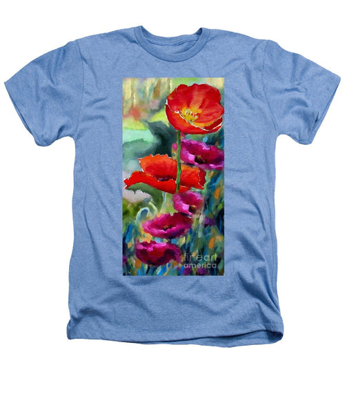 Heathers T-Shirt - Poppies In Watercolor
