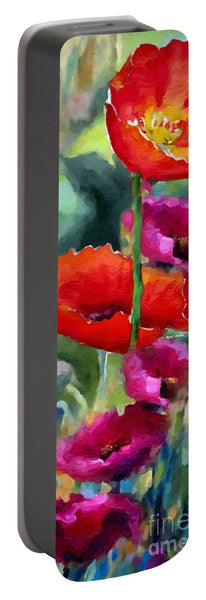 Portable Battery Charger - Poppies In Watercolor