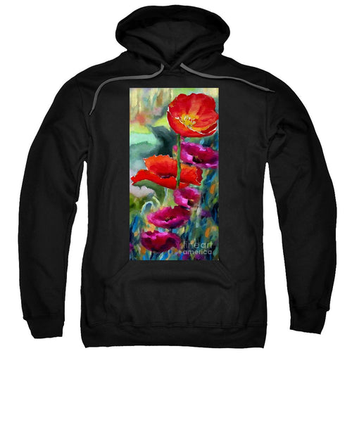 Sweatshirt - Poppies In Watercolor