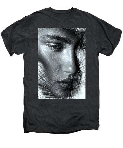 Portrait Of A Woman In Black And White - Men's Premium T-Shirt