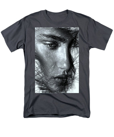 Portrait Of A Woman In Black And White - Men's T-Shirt  (Regular Fit)