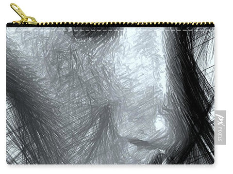 Portrait Of A Woman In Black And White - Carry-All Pouch