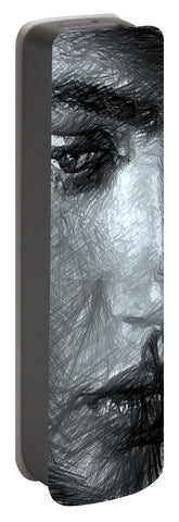 Portrait Of A Woman In Black And White - Portable Battery Charger