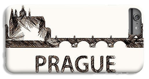 Phone Case - Prague Czech Republic Silouhette Sketch