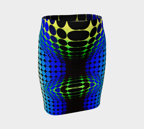 Geometric 9713 Fitted Skirt