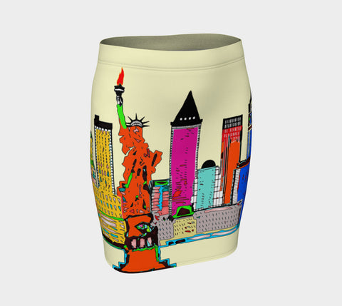 New York - The Big City Fitted Skirt