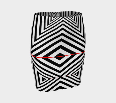 Geometric 3 Fitted Skirt