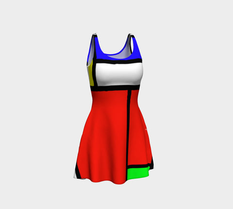Celebrating Mondrian Flare Dress
