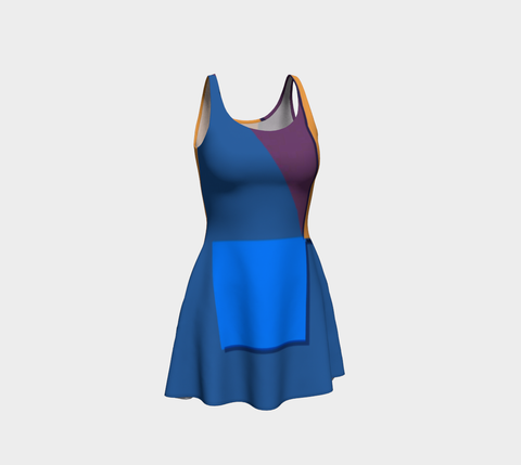 Visible Circumstance Flare Dress
