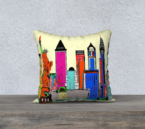 New York - The Big City Pillow Case 18