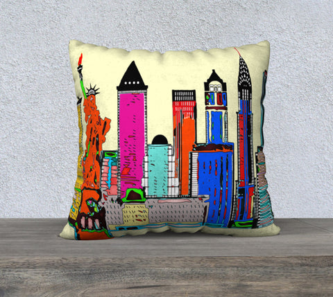 New York - The Big City Pillow Case 22