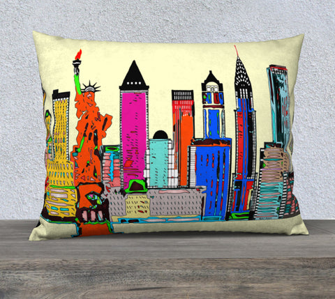 New York - The Big City Pillow Case 26