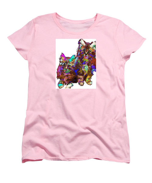 Women's T-Shirt (Standard Cut) - Pumpkin And Sophie. Pet Series