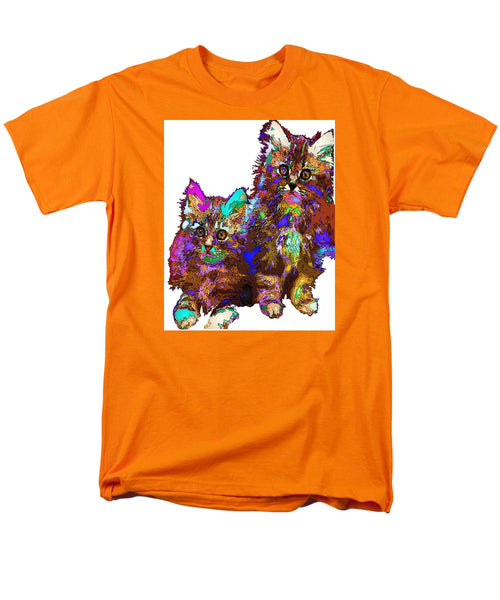 Men's T-Shirt  (Regular Fit) - Pumpkin And Sophie. Pet Series