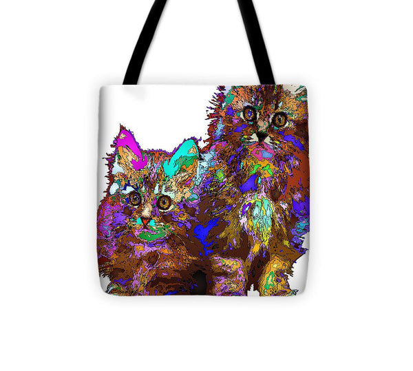 Tote Bag - Pumpkin And Sophie. Pet Series