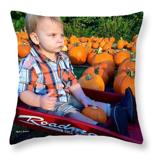 Throw Pillow - Pumpkin Patch Hay Ride
