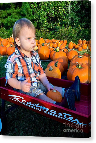 Canvas Print - Pumpkin Patch Hay Ride