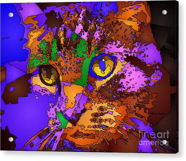 Acrylic Print - Purple Love. Pet Series