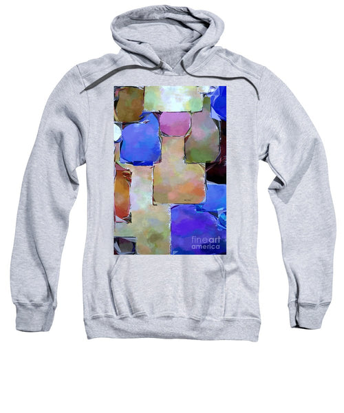 Sweatshirt - Purple Squares