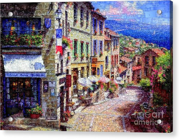 Acrylic Print - Quaint Streets From Nice France.