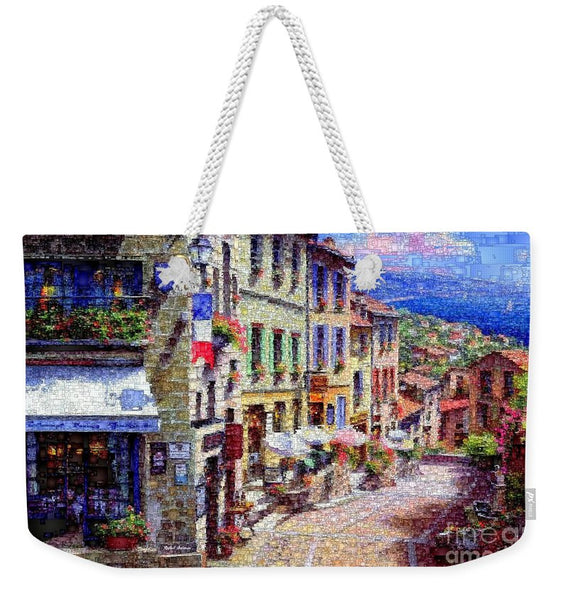 Weekender Tote Bag - Quaint Streets From Nice France.