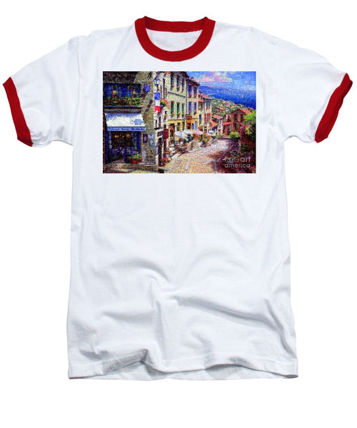 Baseball T-Shirt - Quaint Streets From Nice France.